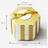 Hexagonal de la impresión personalizada patrón hexagonal de Spot de regalo papel de embalaje