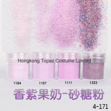 Les Flocons d'coloré rose violet& Feuille hexagonal Nail Art décorations Glitter paillette (EG08)