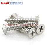 Перекрестные утопленные поднятые зенкованные головные Drilling винты ISO15483