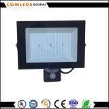 Jardín/parque/cuadrado/luz de inundación delgada de la fábrica LED con el reflector del sensor 100W