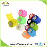 Soulagement De Douleur couleur autoadhésif Sport Non-Woven cohésive Bandage élastique