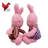 Mini brinquedo enchido feito sob encomenda do coelho do luxuoso