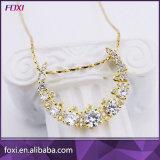 De Halsband van de Tegenhanger van de Juwelen van CZ van het messing met Gouden Plateren