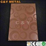 Прилив лист из нержавеющей стали с 6K и Red-Copper