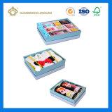 Rectángulo de regalo rígido de lujo de la tarjeta de papel de la impresión colorida para el perfume (con los accesorios del papel de seda)