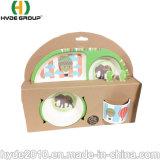Alibaba Verkaufsschlager Eco freundliches Bambusfaser-Essgeschirr-Kind-Abendessen-Set