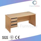 Oficina de forma recta de madera Escritorio con el Gabinete (CAS-CD1849)