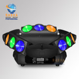 Rashaの無秩序9LEDs*10W 4in1 LEDのくもライトRGBW三角形LEDの移動ヘッドくものビームライト