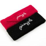 공장 OEM 생성 주문 로고 자수 빨간 테리 운영하는 체조 땀 머리띠