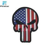 Punisher Haak van het Moreel van de Vlag van de V.S. van de Schedel de Amerikaanse & Flard van pvc van de Lijn 3D