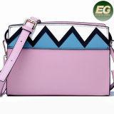 Promotion Lady Handbag Color Collision Shoulder Bags Famous Brand Leisure Woman Leather Bag Emg5207