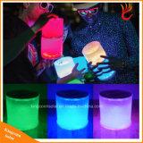 Portable solar al aire libre jardín de la luz de linterna LED con cambio de color