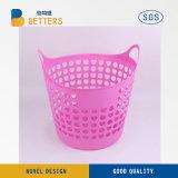 Venta caliente 24L Servicio de lavandería Cesta plástico para limpieza de ropa
