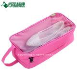 La chaussure transparente de guichet de PVC de mode met en sac le sac de mémoire de polyester