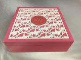 Cosméticos da cor/caixa de presente cor-de-rosa acrílicos brancos