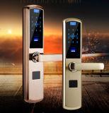 Bloqueo de puerta biométrico electrónico de la maneta de la huella digital de la tarjeta de los claves RFID de la huella digital F4