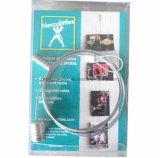 Magnetic Steel Rope Photo Frame for Fridge Decoration or Home Decoration