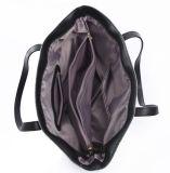 Saco de Tote do ombro das senhoras da série da juta com o Zipper na parte superior