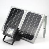 10W Projector movidos a energia solar/ Spotlight, exterior à prova de Luz de Segurança para casa e jardim, relva, Exterior