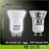 GU10 2W 2700K 110-240 V 200lm foco LED con Ce RoHS