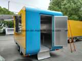 De ronde Vrachtwagen van het Voedsel van de Hoek Mobiele voor Verkoop