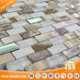 Mosaico de Shell de ladrillo blanco nácar Groutless Backspalsh cocina azulejos de pared (M853001)
