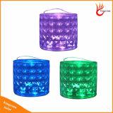 Inflables plegables de colores RGB de diamantes de la luz de linterna solar para el Camping el senderismo y Festival Dress Up