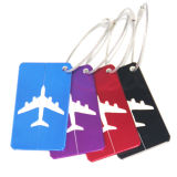 Etiqueta de encargo del equipaje de la manera de la tarjeta de aluminio colorida del aeroplano