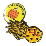 Suaves de encargo/esmaltan difícilmente el Pin con el sombrero de goma amarillo de metal del Pin de los contactos de epoxy de la solapa en los contactos de metal posteriores