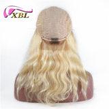 Парик фронта шнурка человеческих волос парика цвета горячего сбывания белокурый