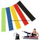 As faixas do laço da resistência do exercício ajustaram-se de 5 faixas de um exercício de 12 polegadas com acessível carreg o ajuste do saco simplificam o melhor para esticar a ioga da terapia física e a aptidão Home