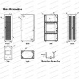 Ge 22u-47u Metal permanente para Rack armario de la red de radiodifusión y telecomunicaciones
