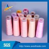 Fil à tricoter tourné par 100% Twisted personnalisable rose de fils de polyesters