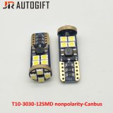 Bulbos brilhantes super de T10 3030 12SMD Nonpolarity Canbus Clearence