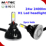 Phare de voiture à LED H7 H11 9005 9006 H4 40W 9012 Projecteur à LED