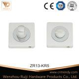 De zilveren Knop van de Privacy &Door van WC van de Montage van de Badkamers (ZR13-KR5)