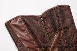 Bovenkant van het Korset van Underbust van de Manier Steampunk van 12 van vrouwen de Spiraalvormige Staal Uitgebeende