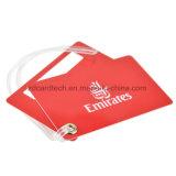 Etiqueta impresa insignia de encargo respetuosa del medio ambiente del equipaje de la etiqueta del equipaje del PVC