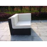 Sofá del jardín de la rota del PE fijado con la mesa de centro