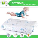 Polyester gedruckte Jacquardwebstuhl-Luft-Schicht-wasserdichtes weiches verbindliches Baby-ändernde Auflage
