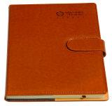 糸かがりの高品質PU革日記のノートの印刷
