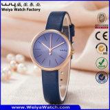 Montre-bracelet occasionnelle de dames de courroie en cuir d'ODM (Wy-126D)