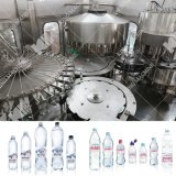 Полная питьевой воды, машины розлива минеральной воды