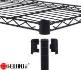 Revestimiento de polvo negro 6 Estante ajustable de bricolaje Casa Cocina abierta de estanterías de almacenamiento unidades de rack.