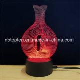 Personalizar escritorio acrílico creativo de la luz de la Ilusión 3D