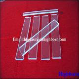 Résistance à la chaleur rectangle clair Feuille de verre de quartz fondu
