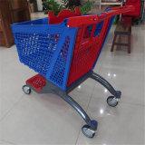 Chariot en plastique à achats de qualité de caddie de modèle neuf de supermarché