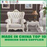Sofá de couro moderno italiano do lazer da mobília Home de madeira