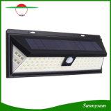 Sensor granangular de movimiento de 80 LED del sensor de la luz de la seguridad de la luz al aire libre solar de la pared con 5 LED en ambas caras para el jardín, patio trasero