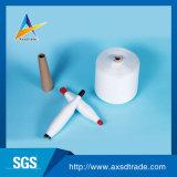Muestra libre sin procesar 100% del Ne 20/2-Ne40/2 del blanco de los hilados de polyester de la torcedura de Z